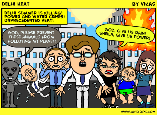Delhi summer heat, environment comics