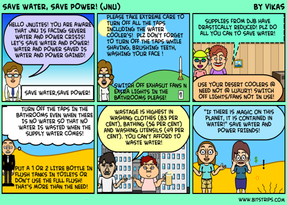 Save water save power comics