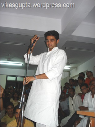 Sachin Pilot in JNU campus, JNU political meeting