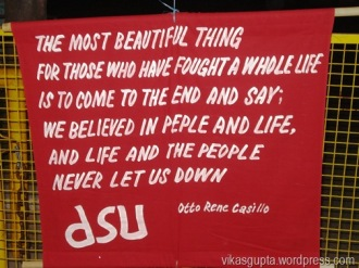 DSU wall posters JNU red JNU
