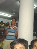 JNU politics public meeting Koyna Hostel